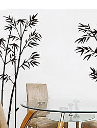 cheap -Elegant Peaceful Chinese Black Bamboo Bird Calm Down Removable Wall Stickers Fancy Home Decoration