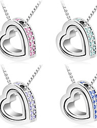 cheap -Women's Crystal Pendant Necklace - Crystal Heart Purple, Rose, Blue Necklace For Wedding, Party, Daily