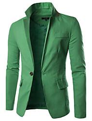 cheap -Men's Cotton Blazer - Solid Colored