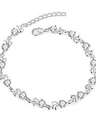 abordables -Femme Chaînes & Bracelets Zircon Cuivre Plaqué argent Mode Argent Bijoux 1pc