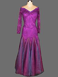 preiswerte -Für den Ballsaal Kleider Damen Vorstellung Kreppe Samt Drapiert 1 Stück Kleid