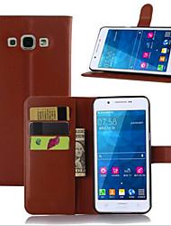 economico -Custodia Per Samsung Galaxy Samsung Galaxy Custodia Porta-carte di credito / Con supporto / Con chiusura magnetica Integrale Tinta unita pelle sintetica per A7(2016) / A5(2016) / A3(2016)