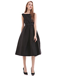 cheap -Women's Casual / Day Print Sheath Dress , Round Neck Above Knee Cotton / Polyester