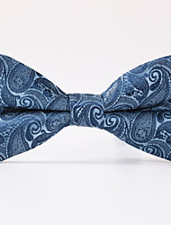 cheap -Men's Party/Evening Wedding Light Blue Paisley  A Formal Butterfly Bow Tie