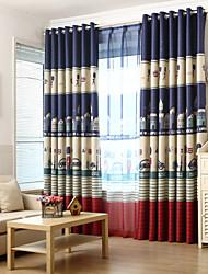 preiswerte -Schlaufen für Gardinenstange Ösen Schlaufen Zweifach gefaltet zwei Panele Window Treatment Modern Europäisch Mediterran Neoklassisch
