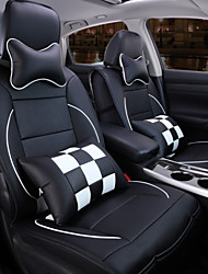 cheap -A New Full Leather Plaid Car Seat Cover Cushion Automotive Interior Protection Of The Original Car Seat
