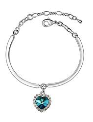 baratos -Mulheres Cristal Bracelete - LOVE Roxo Verde Azul Pulseiras Para Casamento Festa Diário