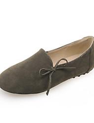 Недорогие -Черный / Зеленый / Миндальный-Женская обувь-Для прогулок / На каждый день / Для занятий спортом-Флис-На плоской подошве-Удобная обувь-
