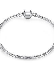 Dámské Řetězové & Ploché Náramky Šperky DIY Postříbřené Circle Shape Šperky ProSvatební Párty Zvláštní příležitosti Narozeniny Zásnuby