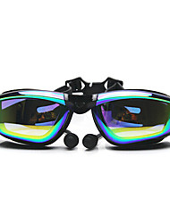 Swimming Goggles Anti-Fog Adjustable Size Anti-UV Waterproof Silica Gel PC White Gray Black Others TransparentPink Gray Black Blue Light