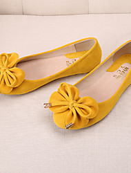cheap -Women's Flats  Round Toe / Closed Toe / Flats  Casual Flat Heel BowknotBlack / Blue / Yellow / Pink /