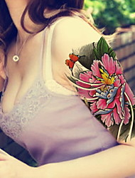 cheap -Peony Flower Butterfly  Waterproof Flower Arm Temporary Tattoos Stickers Non Toxic Glitter