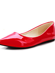 cheap -Women's Shoes Patent Leather Flat Heel Pointed Toe Flats Office & Career / Dress / CasualBlack / Yellow / Royal Blue /