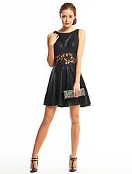 Linea-A Corto / mini Poliestere Cocktail Festa di fine anno scolastico Vestito con Di pizzo di TS Couture®