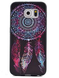 economico -Per Samsung Galaxy S7 Edge Fantasia/disegno Custodia Custodia posteriore Custodia Acchiappasogni TPU SamsungS7 Active / S7 plus / S7 edge