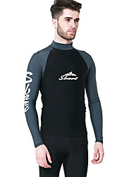 cheap -SBART Men's Women's Diving Rash Guard Ultraviolet Resistant Chinlon Long Sleeves Rash Guard Diving Suits Swimwear Top Swimming Diving