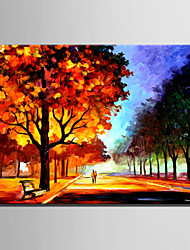 cheap -Mini Size E-HOME Oil painting Modern The Woods Under The Night Light Pure Hand Draw Frameless Decorative Painting