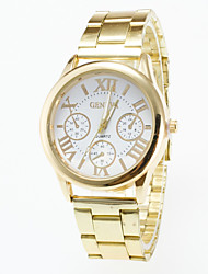 cheap -Men's Quartz Wrist Watch Casual Watch Stainless Steel Band Charm Gold