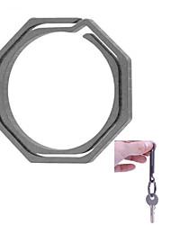 fura octagonal chaveiro liga de titânio - cinza