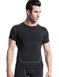 cheap -Men's Running T-Shirt Short Sleeves Quick Dry Soft Compression Lightweight Materials Compression Clothing T-shirt Top for Yoga Exercise &
