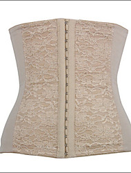 abordables -Crochet Serre Taille Femme Jacquard - Epais Coton Modal Polyester Spandex Noir Beige