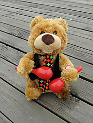 cheap -Plush Bear Textile Red / Black / Khaki  Music Toy For Kids