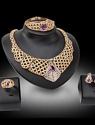 Da donna Set di gioielli Pietre dei segni Di tendenza Gioielli di Lusso Pietre sintetiche 18K oro Diamanti d'imitazione Orecchini Collana