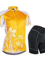 Nuckily Maglia con pantaloncini da ciclismo Per donna Manica corta Bicicletta Manicotti Maglietta/Maglia Pantaloncini /Cosciali Set di