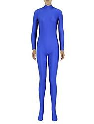 abordables -Disfraces Zentai Ninja Zentai Disfraces de Cosplay Azul Piscina Un Color Leotardo/Pijama Mono Zentai Espándex Licra Unisex Halloween