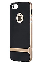 billige -Etui Til iPhone 5 Apple iPhone 5 etui Stødsikker Bagcover Rustning Hårdt PC for iPhone SE/5s iPhone 5