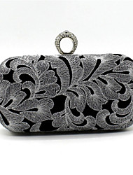 Women Bags Satin Evening Bag Lace for Wedding Event/Party Gold Silver
