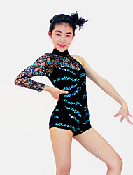 cheap -Jazz Dancewear Adults' Children's Sequined Lace One Sleeve Leotard