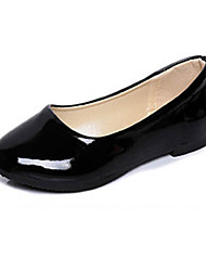 cheap -Women's Shoes Patent Leather Flat Heel Ballerina Flats Casual Black / Blue / Yellow / Pink / Purple / Red / White