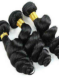 cheap -Peruvian Hair Classic / Loose Wave Natural Color Hair Weaves 3 Bundles Human Hair Weaves Human Hair Extensions