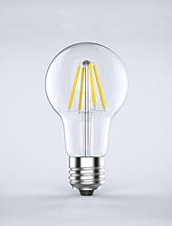 4W E26/E27 LED Filament Bulbs A60(A19) 4 COB 400 lm Warm White 2700 K Waterproof Decorative AC 85-265 V