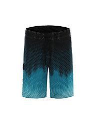 cheap -Clothin Men's Quick-dry Water Shorts Outdoor Boardshorts Cool Surf Beach Blue and Black