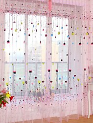 Ein Panel Rustikal Blumen / Pflanzen Wie im Bild Wohnzimmer Polyester Gardinen Shades