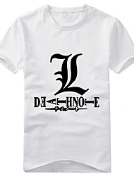 cheap -Inspired by Death Note Yagami Raito Anime Cosplay Costumes Cosplay T-shirt Print Short Sleeves T-shirt For Unisex