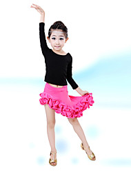 cheap -Shall We Latin Dance Children Performance Cotton / Spandex 2 Pieces Outfits