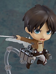 cheap -Anime Action Figures Inspired by Attack on Titan Eren Jager PVC 10cm CM Model Toys Doll Toy