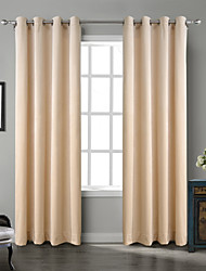 cheap -Rod Pocket Grommet Top Tab Top Double Pleat Two Panels Curtain Country Modern Neoclassical Rococo Baroque European Designer Solid Bedroom