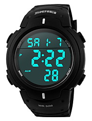 cheap -SKMEI® Men's Sporty Black Watch Digital LCD Display Calendar/Chronograph/Alarm/Water Resistant Cool Watch Unique Watch Fashion Watch