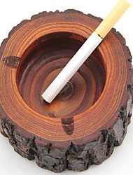1Pcs/Lot Wholesale Portable Tobacco Ashtrays Novelly Cigar Cigarette Wooden Ashtray Barrel Mens Favor Gift Brown Color