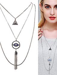 お買い得  -女性用 レイヤードネックレス / パールネックレス  -  真珠 ファッション, かわいいスタイル ゴールド, シルバー ネックレス 用途 パーティー