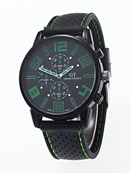 cheap -Men's Quartz Wrist Watch Casual Watch Silicone Band Charm Casual Fashion Black