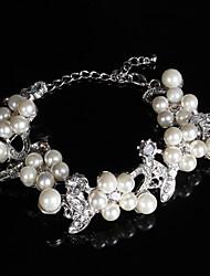 Недорогие -жемчужина жемчуга / rhinestone изящный стиль женской цепи браслет
