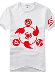 Вдохновлен Наруто Itachi Uchiha Аниме Косплэй костюмы Косплей футболка С принтом С короткими рукавами Футболка Назначение Универсальные