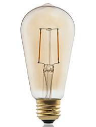 baratos -1pç ≥180 lm E26/E27 Lâmpadas de Filamento de LED ST58 2 leds COB Decorativa Branco Quente AC 220-240V