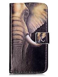preiswerte -Hülle Für LG K8 / LG / LG G5 Geldbeutel / Kreditkartenfächer / mit Halterung Ganzkörper-Gehäuse Elefant Hart PU-Leder für LG V10