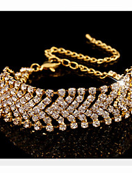 MISSING U Alloy / Rhinestone Bracelet Chain & Link Bracelets Party / Daily 1pc
